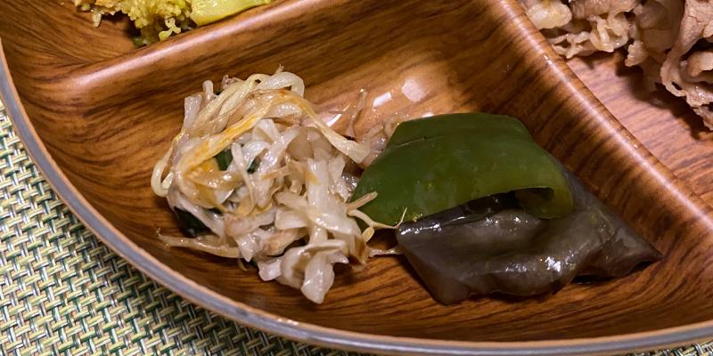 小松菜ともやしのナムル